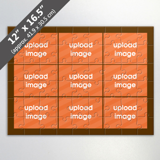 Custom 9-Picture Puzzle for Corporate Gift in Brown