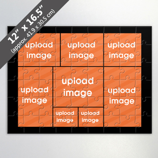 Custom 8 Picture Jigsaw Puzzle With Black Border