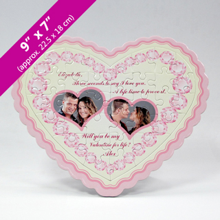 Make Your Own Two Photo Heart Puzzle