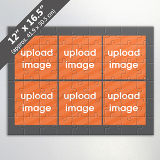 Design Own Grey Photo Collage Puzzle with 6 Photos