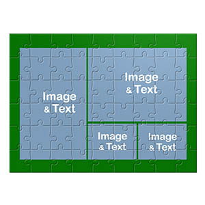 Design Own Green Photo Collage Puzzle With 4 Pictures