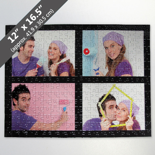 Personalized Photo Collage Puzzle With Black Border