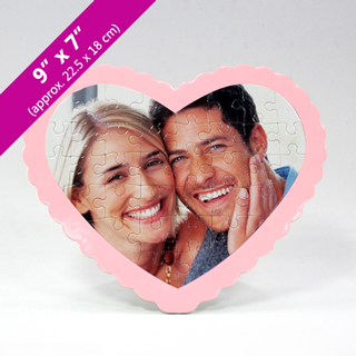Custom Heart-Shaped Photo Puzzle for Sweetest Day