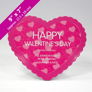 Make Your Own Heart Shaped Puzzle With Custom Message