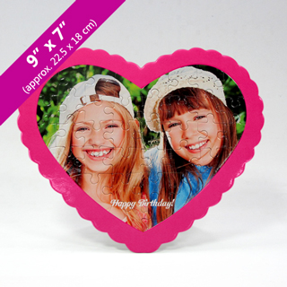 Custom Birthday Heart-Shaped Picture Puzzle
