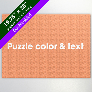 "19.75""x28"" Double-Sided Puzzle with Background Color and Text"