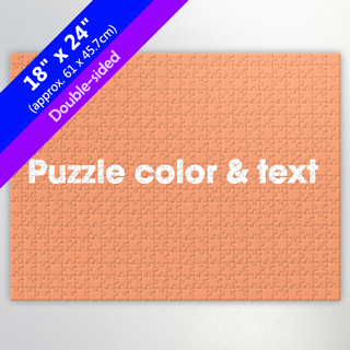 Create Own 18x24 Double-Sided Jigsaw for Resell