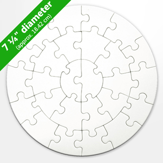 Blank Round Puzzle (26 Pieces)