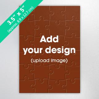 Small Wooden Invitation Puzzle 3.5X5 Inch