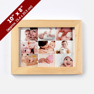 wooden puzzle frame for 8x10 inches. Black Bedroom Furniture Sets. Home Design Ideas