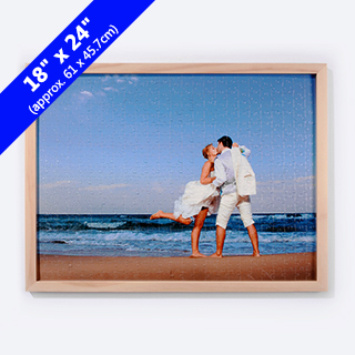 Wood Puzzle Frame For 18x24 Inches