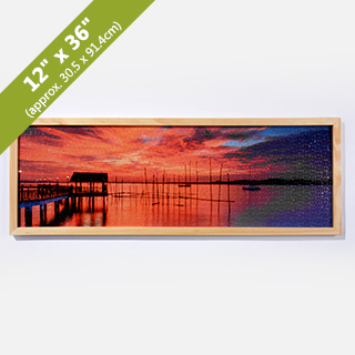 wood puzzle frame for 12x36 inches