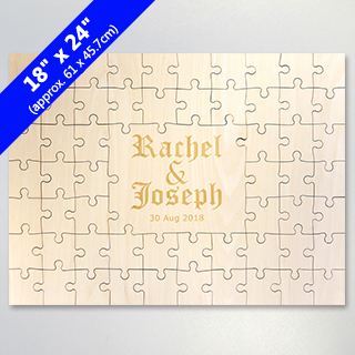 Personalized Engraved Guest Book Puzzle 59 Pieces