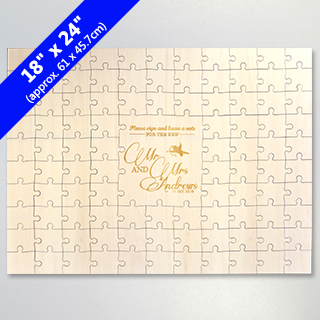 Customized Engraved Guest Book Puzzle 99 Pieces