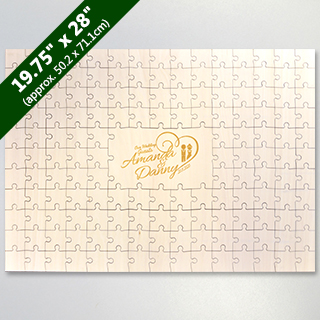 Laser Engraving Custom Wooden Guestbook Puzzle 151 Piece