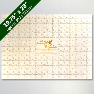 Laser Engraved Custom Wooden Jigsaw Puzzle 209 Piece