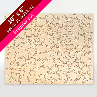 Blank Victorian Cut 8x10 Wooden Puzzle 104pieces