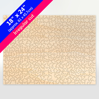 Irregular Cut Wooden Puzzle With 503 Blank Pieces