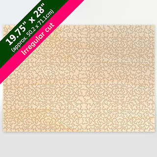 Blank 19.75X28 Irregular Cut Wooden Puzzle 931pieces