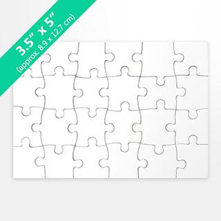 3.5X5 Blank Invitation Puzzle (24 Pieces)