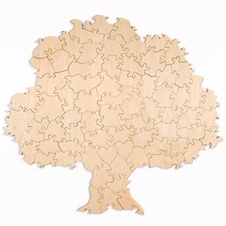 Plain Tree Shaped Guest Book Puzzle