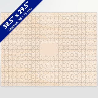 Blank Large Guest Book 481 Pieces Wooden Puzzle