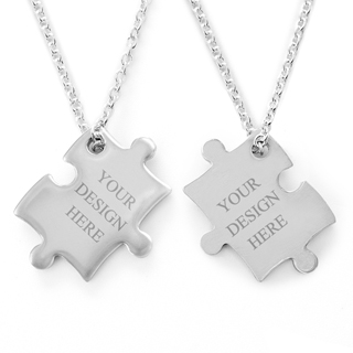 Puzzle necklace_custom 2 sides