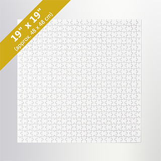 Blank 19X19 Traditional Puzzle (500 Pieces)