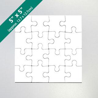 5X5 Blank Invitation Puzzle (16 Pieces)
