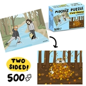 Mochi the pug in the woods two-sided 500 piece puzzle