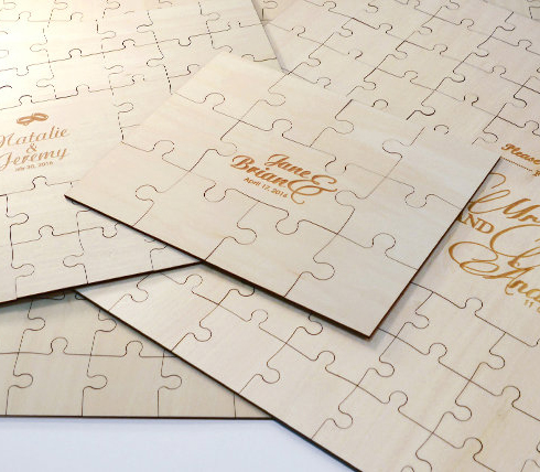 Engraved Guest Book Puzzles