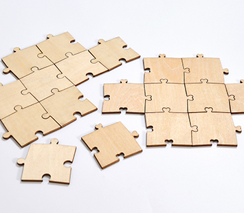 Blank Endless Guest Book Puzzle Pieces