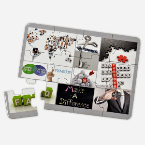 7x5 inch 12-piece custom promotional puzzle