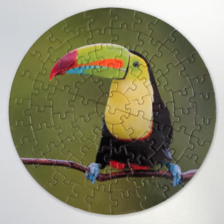 personalized round puzzle