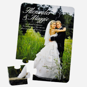 Personalized Full Color Photo Jigsaw Invitation
