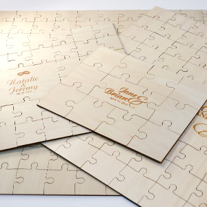 Wedding Wooden Guest Book Puzzles